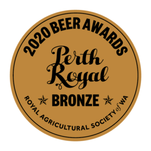 Lucky Bay Brewings 'Skippy Rock' kolsch - winner of bronze medal for best Germsn style ale at 2020 Perth Royal Beer Awards