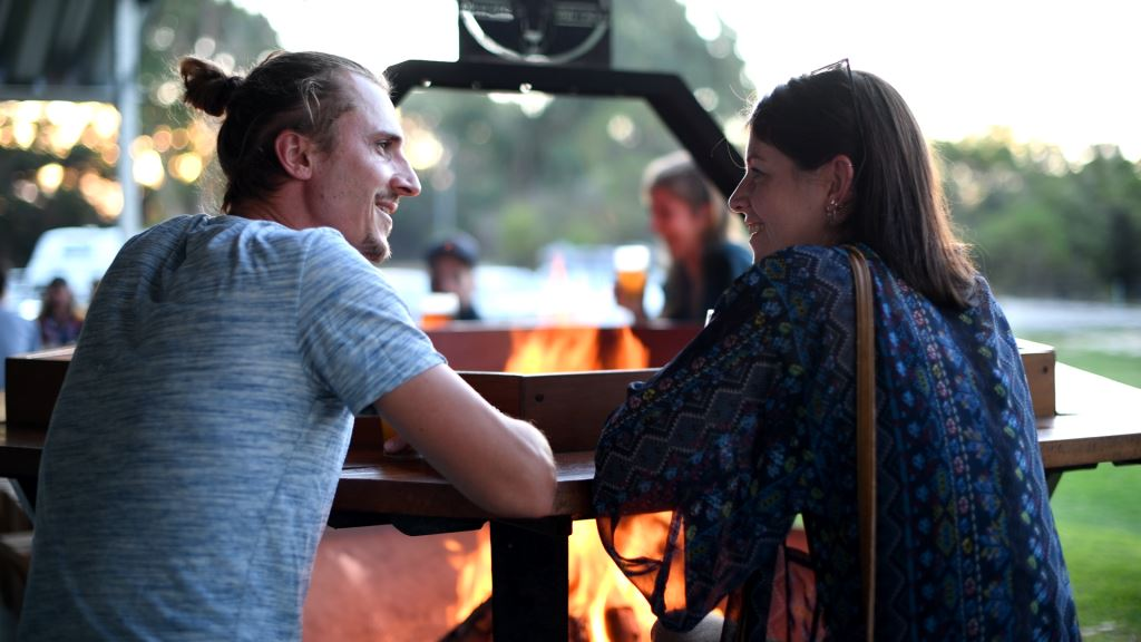 Enjoy a beer with friends around our fire-pit at Lucky Bay Brewing