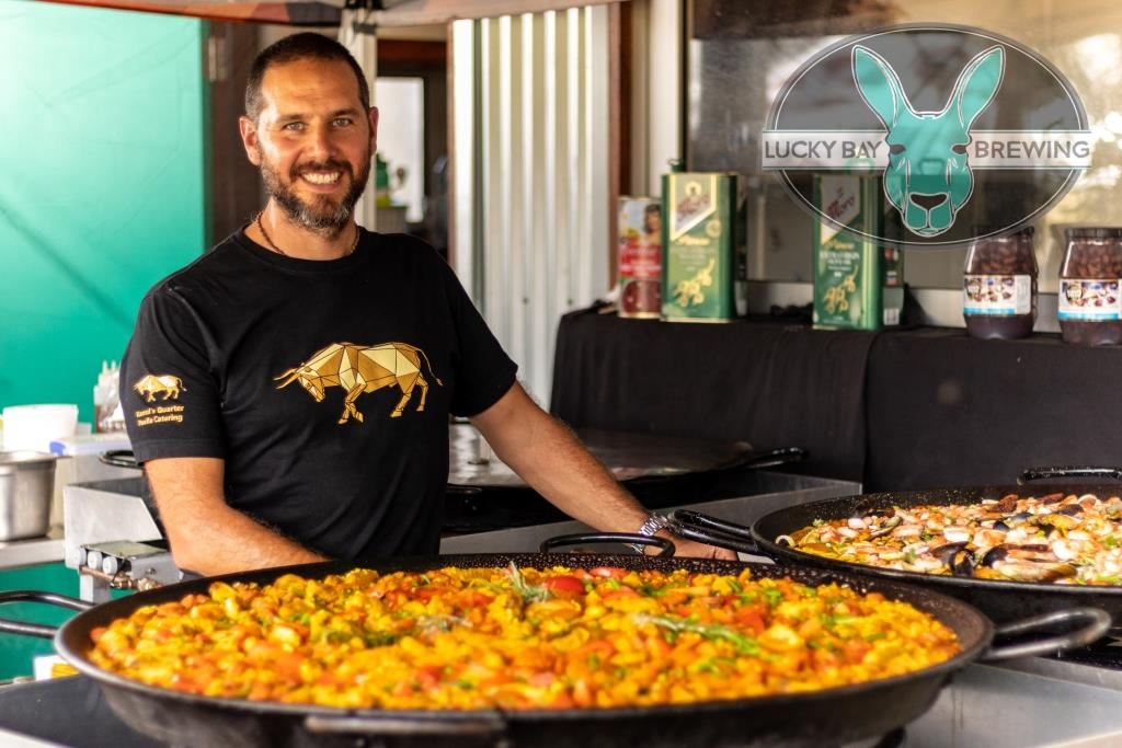Spanish paella at Lucky Bay Brewing