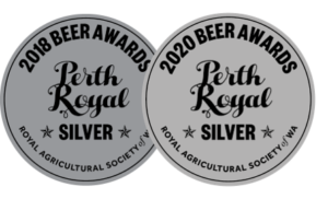 Lucky Bay Brewing 'Black Jack pirate porter - winner of silver medal in 2018 and 2020 for best porter-stout at Perth Royal Beer Awards