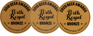 Lucky Bay Brewing 'Homestead' Saison - winner of bronze medal in 2020, 2019 & 2018 for best Saison at Perth Royal Beer Awards.
