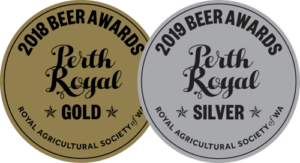 Lucky Bay Brewing 'Thistle Cover' scottish ale - winner of Gold medal in 2018, and Silver medal in 2019 for best low alcohol beer at Perth Royal Beer Awards